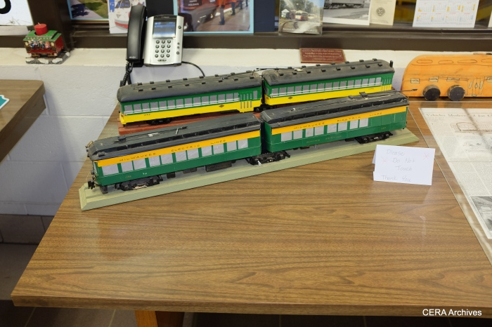 Model trains on display.