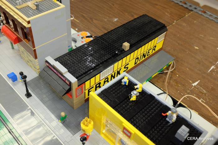 A Lego version of the Franks Diner, which is a Kenosha landmark.