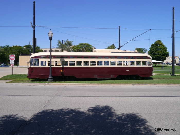 A side view of the Toronto car.