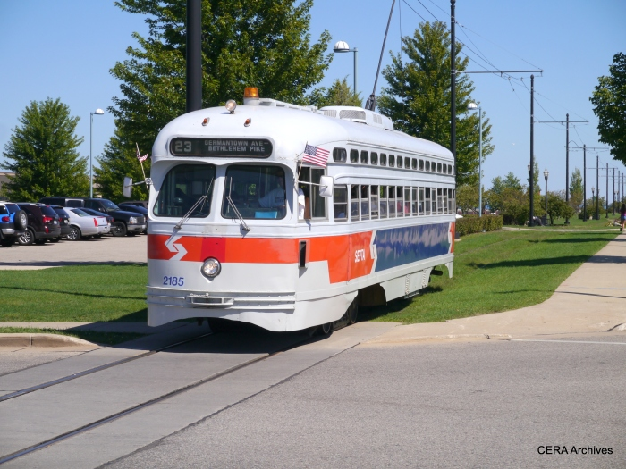 Car 2185 will be the regular service car on September 27th, during the CERA fantrip.