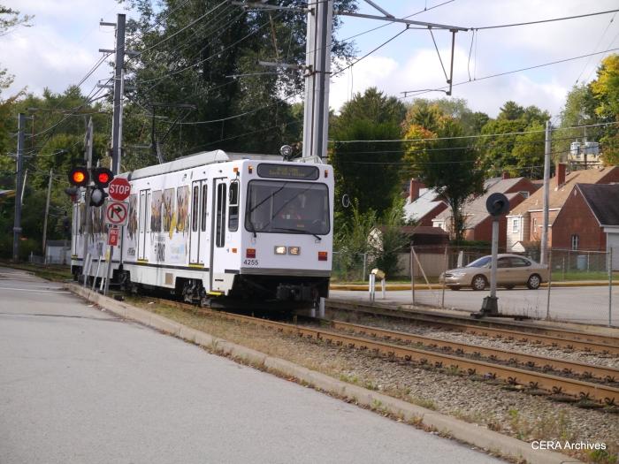 PAT 4255 inbound near St. Anne's on October 4, 2014.