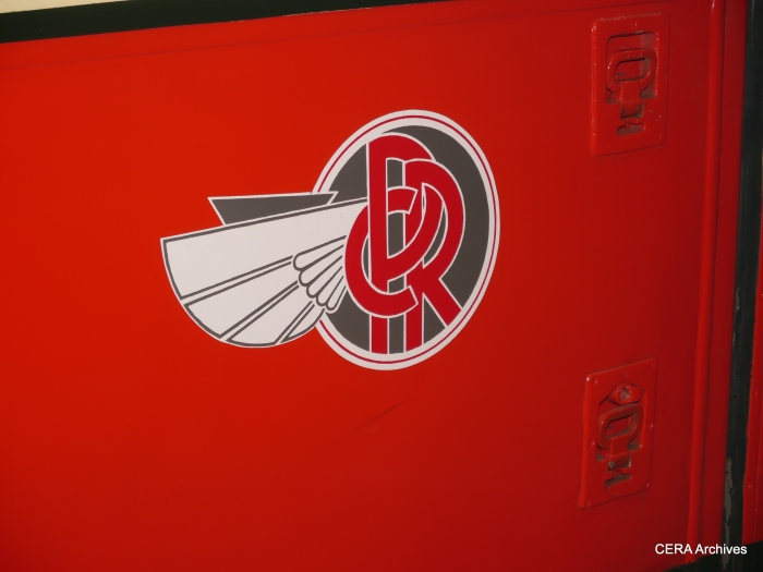 Pittsburgh Railways had a very attractive logo, as seen on PCC 1711 at the Pennsylvania Trolley Museum.