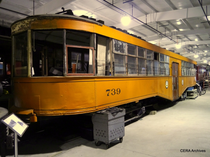 West Penn Railways car 739, now preserved at the Pennsylvania Trolley Museum.