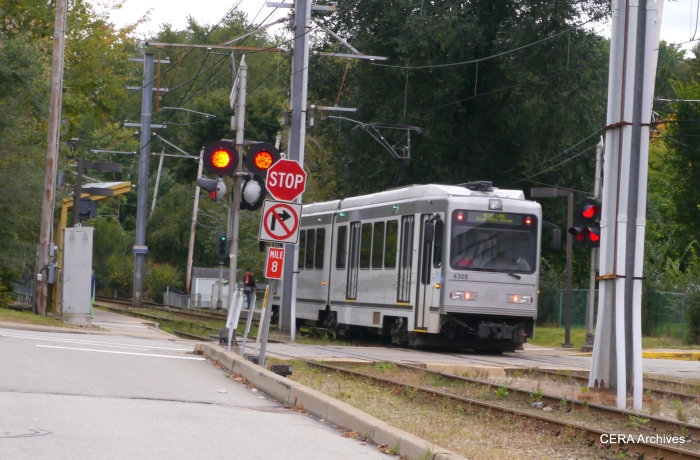 PAT 4308 outbound approaching St. Anne's on October 5, 2014.