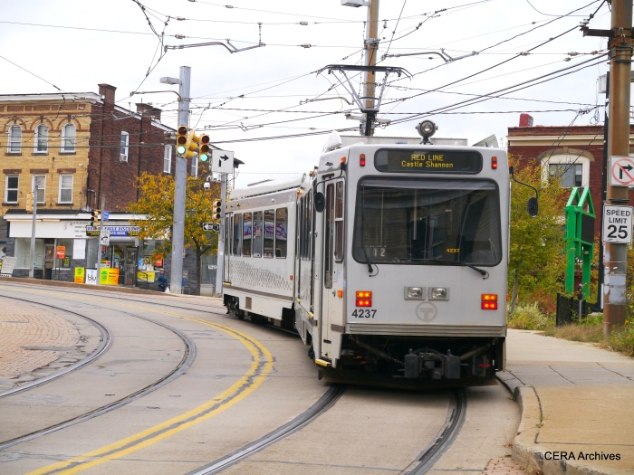 Outbound PAT 4237 on Broadway near Fallowfield in the Beechview neighborhood (October 5, 2014).