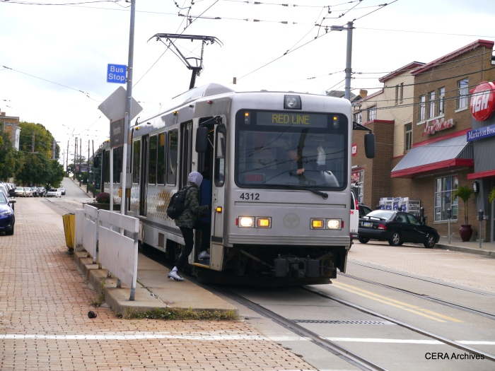 PAT 4312 inbound on Broadway Ave. at Hampshire in the Beechview neighborhood on October 5, 2014.