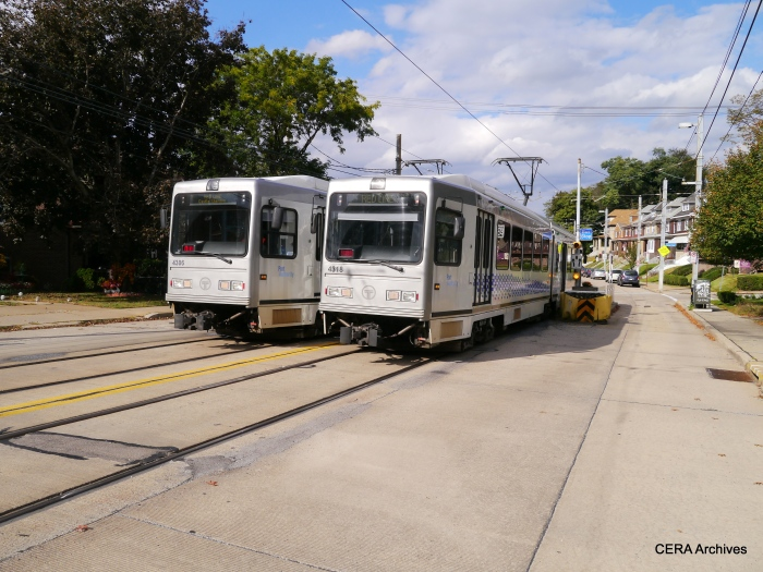 PAT 4318 and 4306 meet at Shiras on Broadway Ave., October 5, 2014.