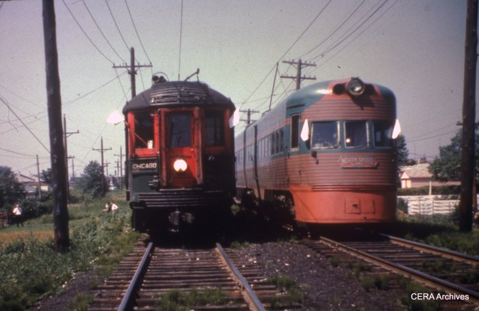 CNS&M 744 and 803-804 on a June 17, 1962 CERA fantrip. Can this be the Mundelein branch? (CERA Archives)